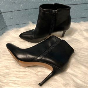 "Coach "" Dean"" Black Leather Booties"